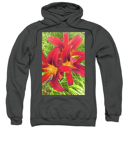 Three Red Tiger Lilies Sweatshirt