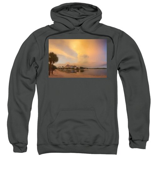 Thunderstorm Over Disney Grand Floridian Resort Sweatshirt