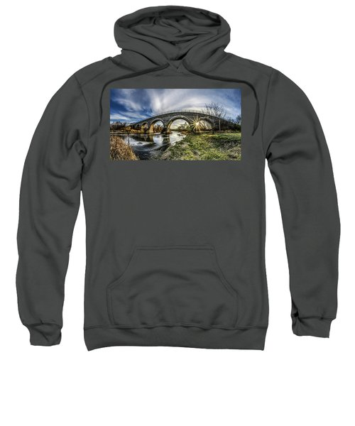 Tiffany Bridge Panorama Sweatshirt by Randy Scherkenbach