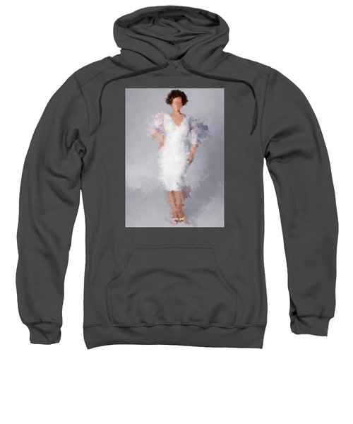 Sweatshirt featuring the digital art Tiffany by Nancy Levan