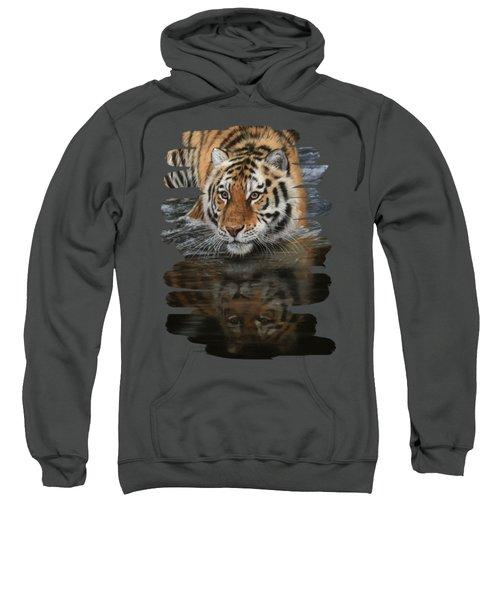 Tiger In Water Sweatshirt