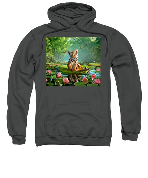Tiger Lily Sweatshirt by Jerry LoFaro