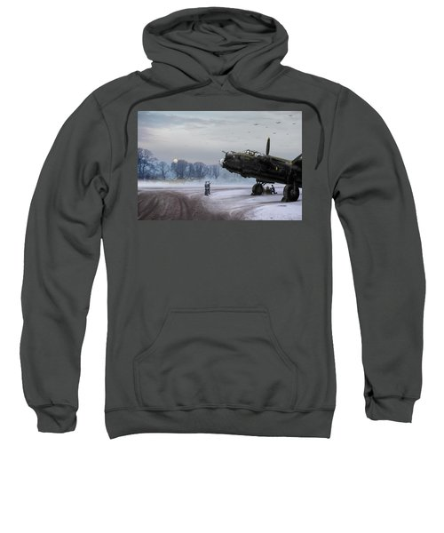 Sweatshirt featuring the photograph Time To Go - Lancasters On Dispersal by Gary Eason