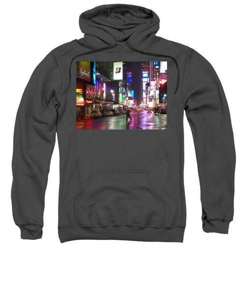 Times Square In The Rain 2 Sweatshirt