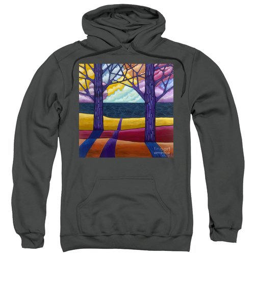 Sweatshirt featuring the painting Together Forever by Carla Bank
