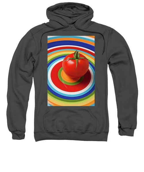 Tomato On Plate With Circles Sweatshirt