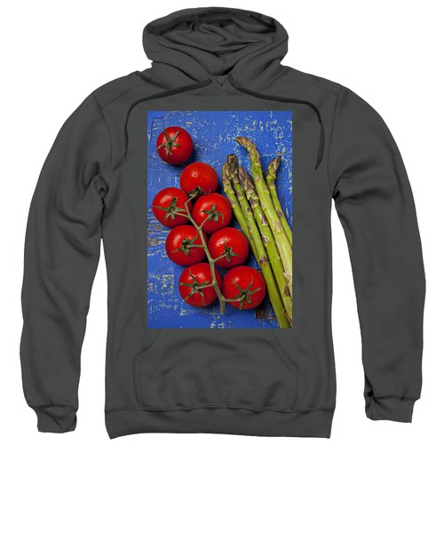 Tomatoes And Asparagus  Sweatshirt by Garry Gay