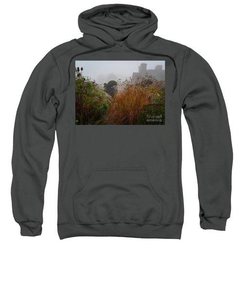 Topiary Peacocks In The Autumn Mist, Great Dixter 2 Sweatshirt