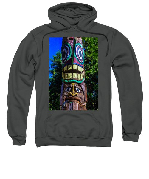Totem Pole Figures Sweatshirt