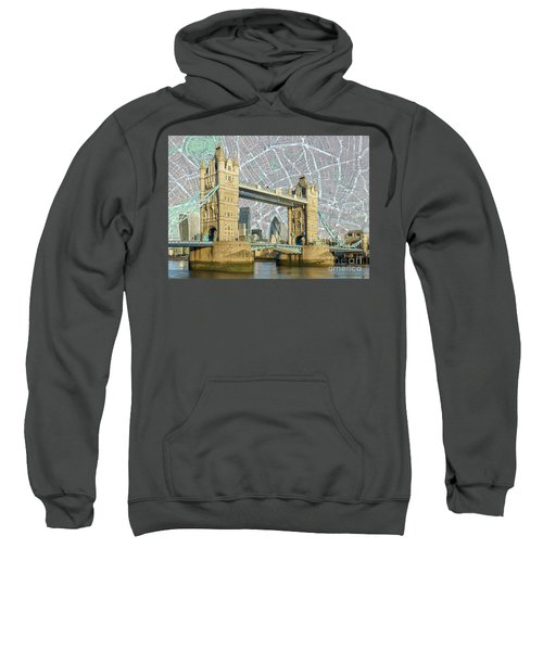 Sweatshirt featuring the digital art Tower Bridge by Adam Spencer