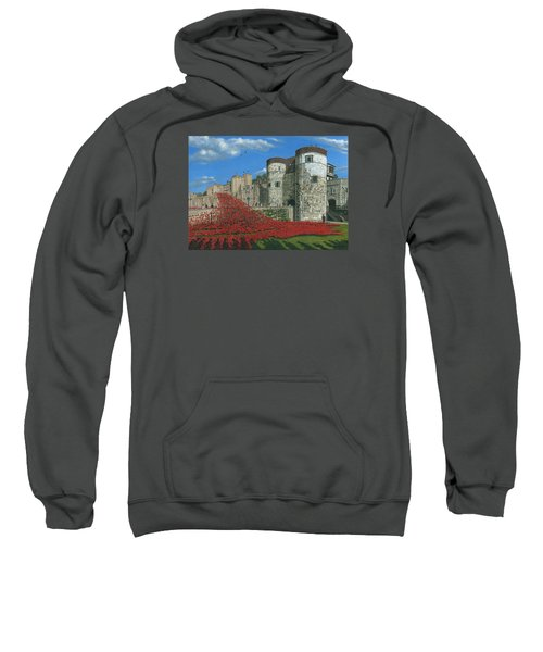 Tower Of London Poppies - Blood Swept Lands And Seas Of Red  Sweatshirt by Richard Harpum