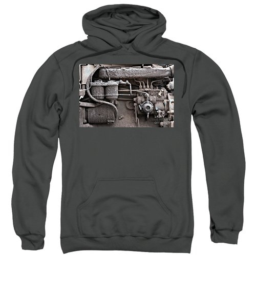 Sweatshirt featuring the photograph Tractor Engine II by Stephen Mitchell