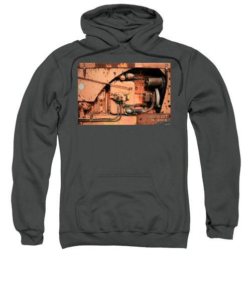 Sweatshirt featuring the photograph Tractor Engine V by Stephen Mitchell