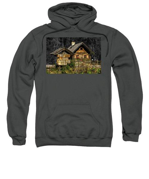 Traditional Austrian Wooden House Sweatshirt