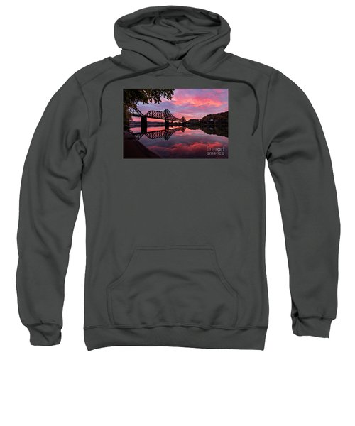 Train Bridge At Sunrise  Sweatshirt