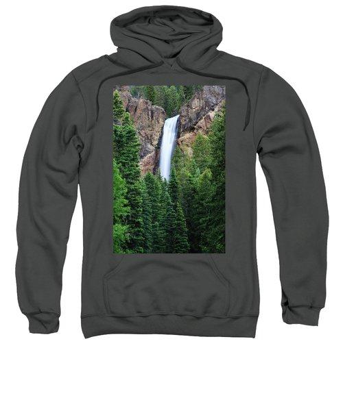 Sweatshirt featuring the photograph Treasure Falls by David Chandler