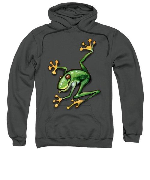 Tree Frog Sweatshirt by Kevin Middleton