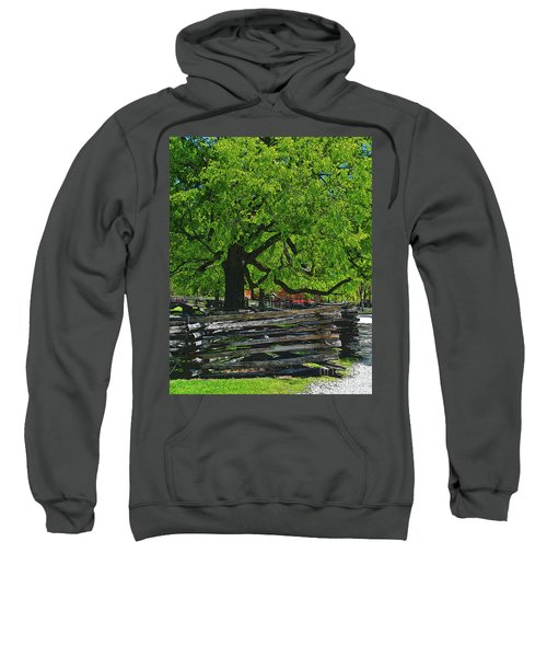 Tree With Colonial Fence Sweatshirt