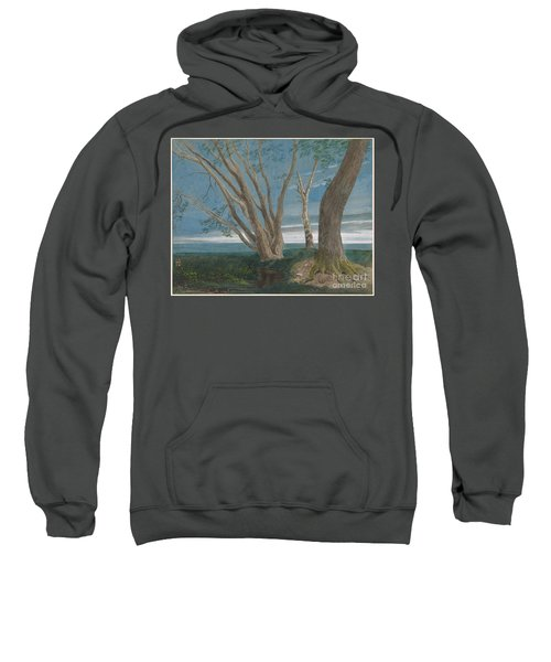 Trees In A Landscape At Dusk Sweatshirt
