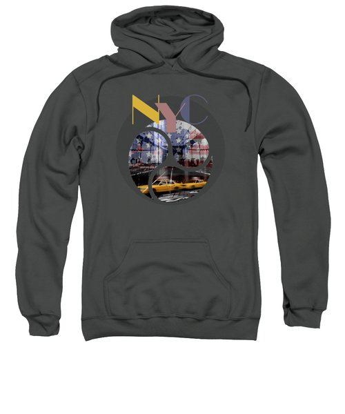Trendy Design New York City Geometric Mix No 2 Sweatshirt by Melanie Viola