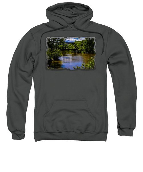 Trestle Over River Sweatshirt by Mark Myhaver