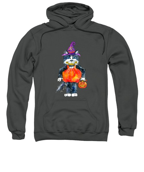Trick Or Treat Sweatshirt by Shelley Wallace Ylst