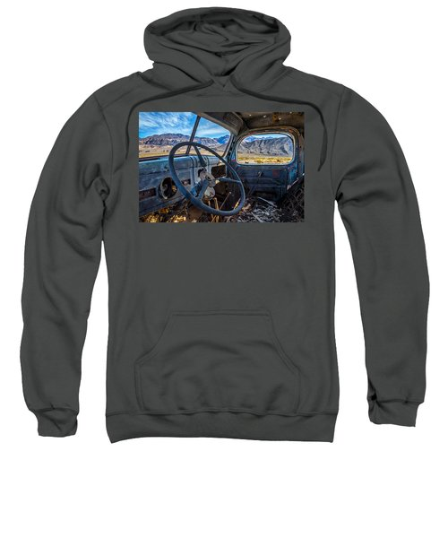 Truck Desert View Sweatshirt by Peter Tellone