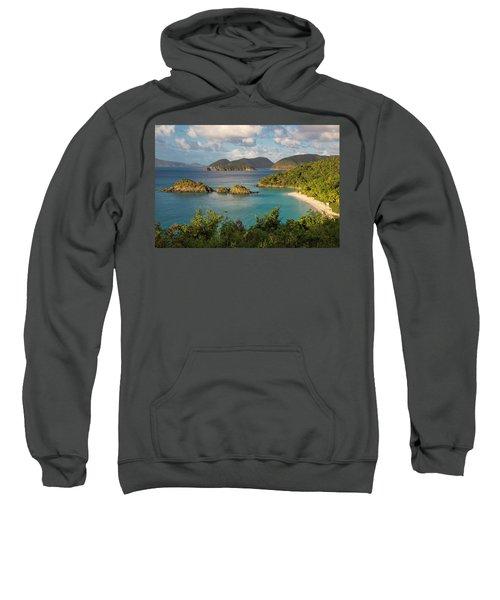 Sweatshirt featuring the photograph Trunk Bay Morning by Adam Romanowicz