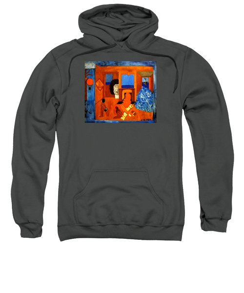 Trying To Find The Way Out Or Is It Better To Stay   Sweatshirt