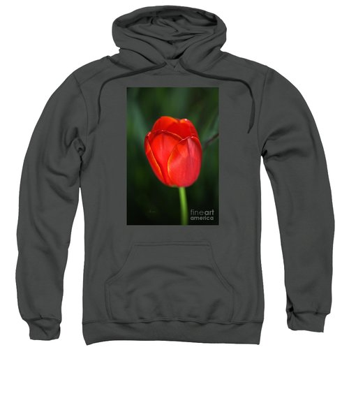 Tulip Red With A Hint Of Yellow Sweatshirt