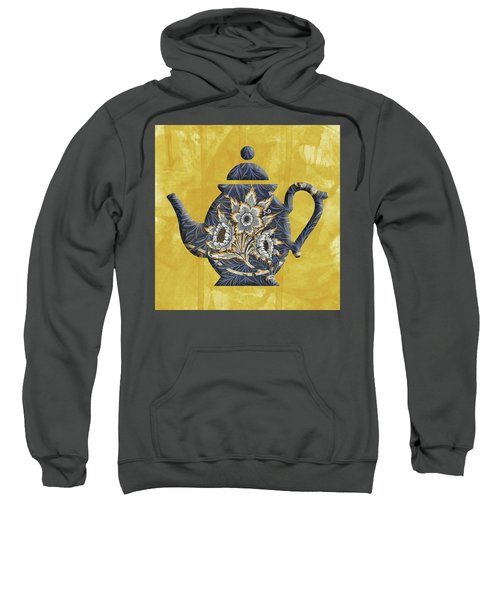 Tulips And Willow Pattern Teapot Sweatshirt
