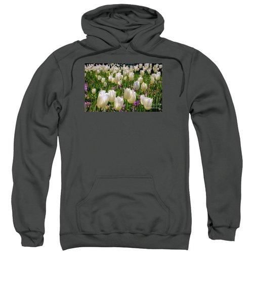 Tulips In White Sweatshirt