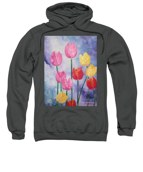 Ten  Simple  Tulips  Pink Red Yellow                                Flying Lamb Productions   Sweatshirt