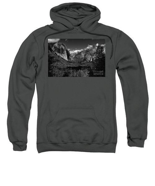 Tunnel View Black And White  Sweatshirt