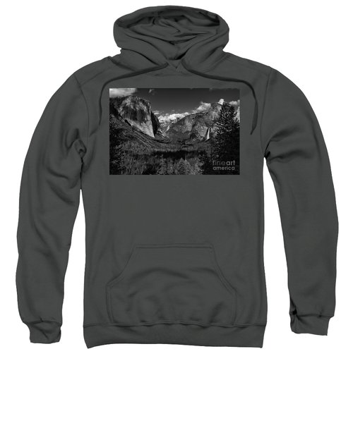 Tunnel View Black And White  Sweatshirt