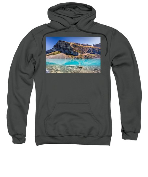 Turquoise Water Of The Scenic Lake Louise Sweatshirt