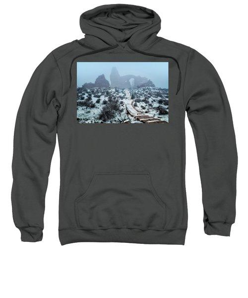 Turret Arch In The Fog Sweatshirt