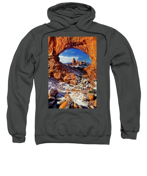 Turret Arch Through North Window Arches National Park Utah Sweatshirt