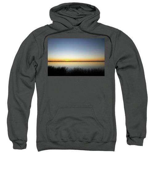 Twilight Stillness Down By The Beach Lagoon Sweatshirt