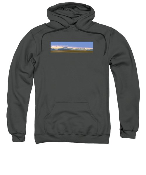 Twin Peaks Panorama View From The Agriculture Plains Sweatshirt