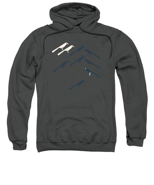 Two White Starlings Sweatshirt