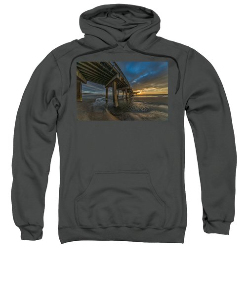 Tybee Island Beach Pier  Sweatshirt