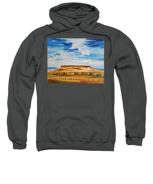 Ulm Montana First People's Buffalo Jump   93 Sweatshirt