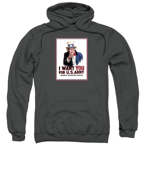 Uncle Sam -- I Want You Sweatshirt by War Is Hell Store