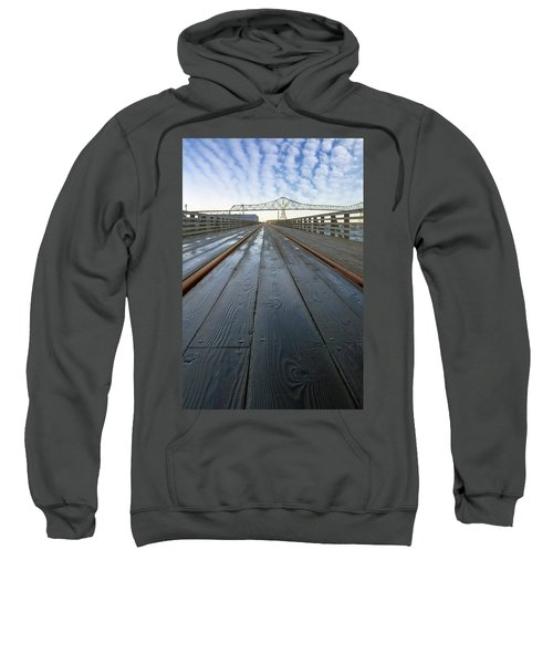Under Astoria Megler Bridge On Riverwalk Sweatshirt