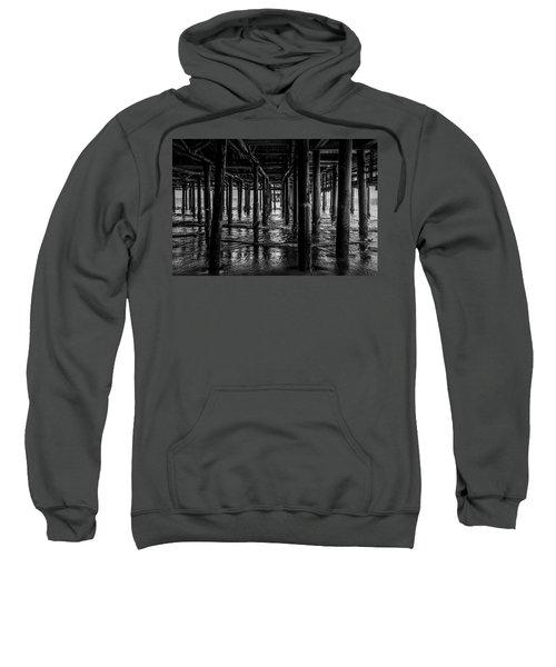 Under The Pier - Black And White Sweatshirt