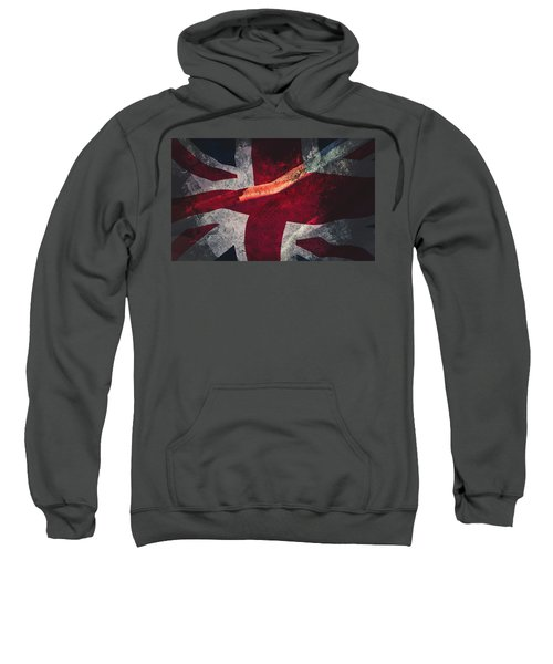 Union Jack Fine Art, Abstract Vision Of Great Britain Flag Sweatshirt