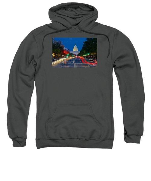 United States Capitol Along Pennsylvania Avenue In Washington, D.c.   Sweatshirt