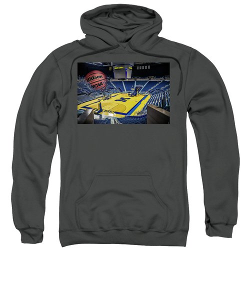 University Of Michigan Basketball Sweatshirt by Nicholas Grunas