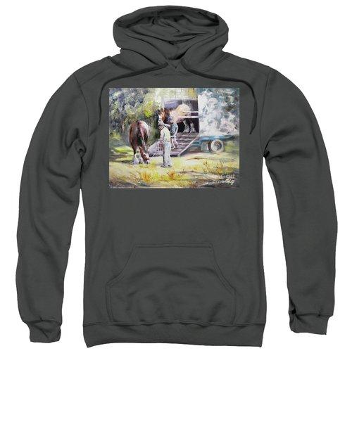 Unloading The Clydesdales Sweatshirt